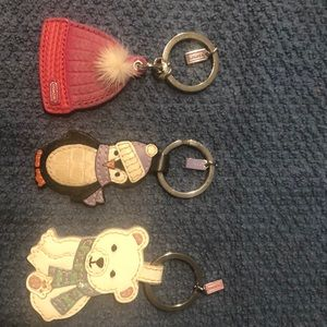 3 AUTHENTIC COACH WINTER KEYCHAINS!!